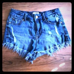 Celebrity Pink Cut Off Shorts Size 1 Blue Jeans